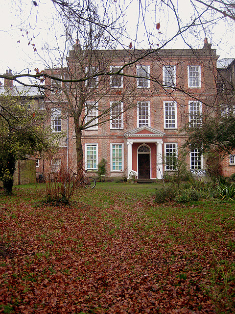 Old Hall: the old mansion façade, west facing