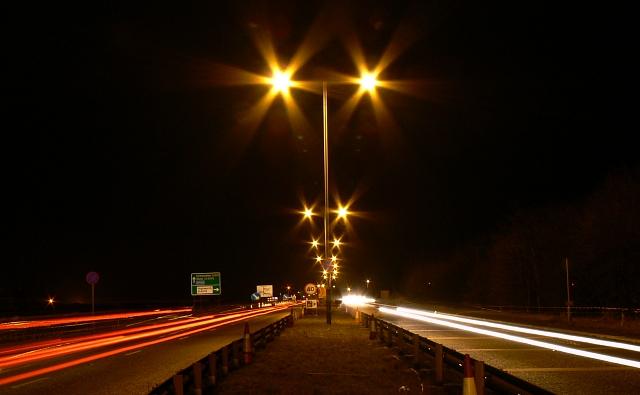 A419 Blunsdon at night