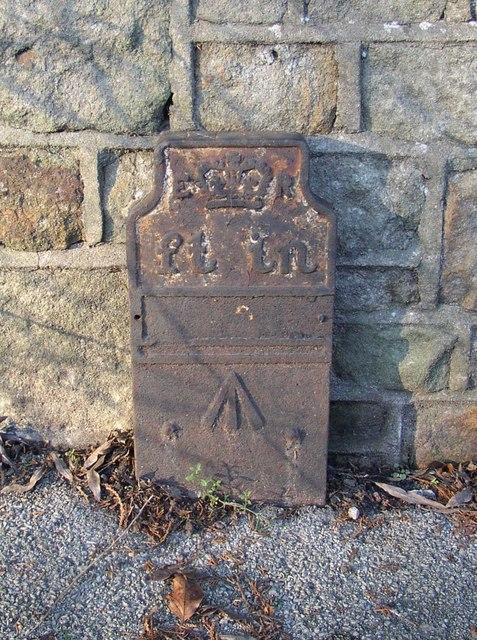 Marker post, Hest Bank