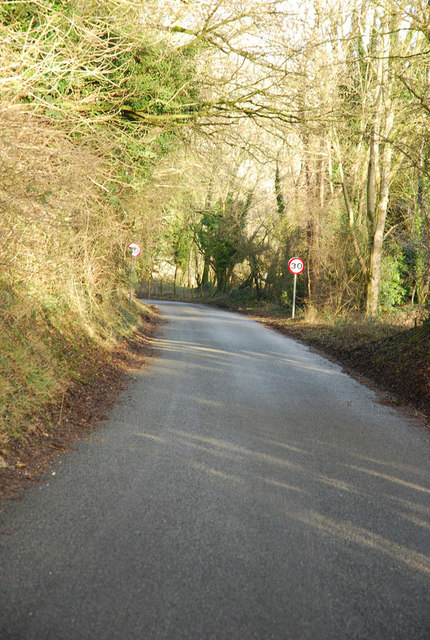 Steep descent to Woodminton
