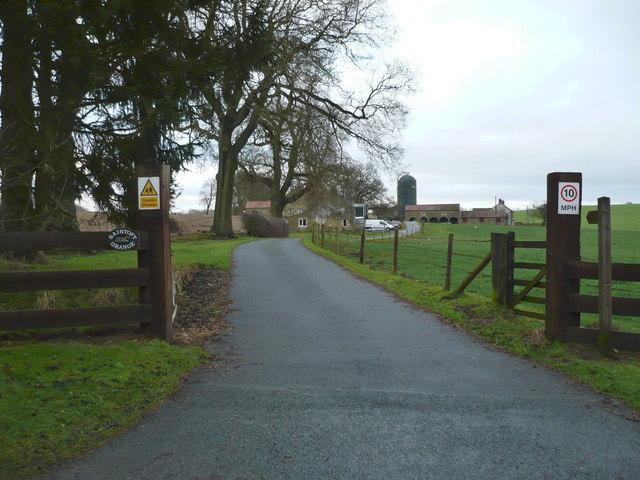 Driveway to Saintoft Grange