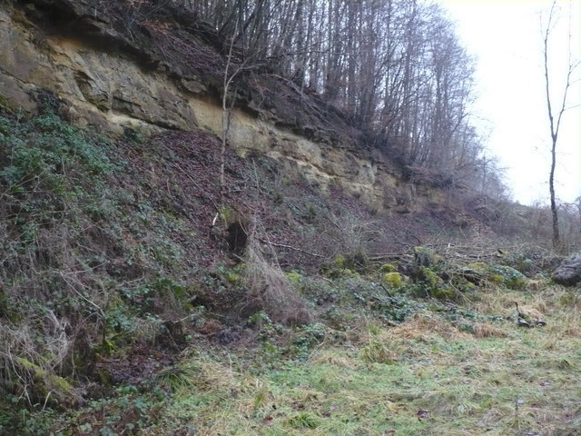 Rockface in Gundale after quarrying