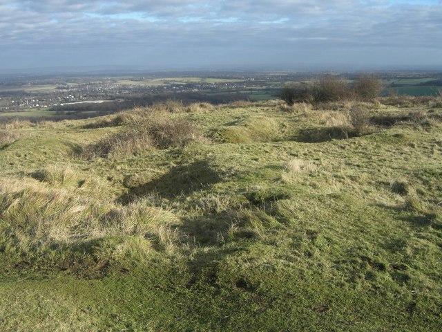 Pyecombe, Wolstonbury hill top