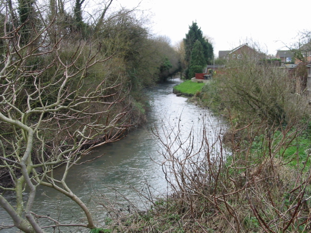 Great Stour at the rear of Willow Close