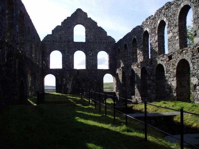 Inside the disused Ynyspandy Mill