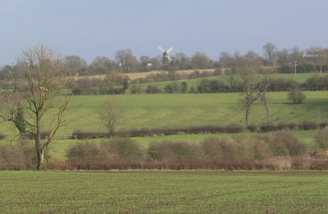 View towards Arnesby Windmill