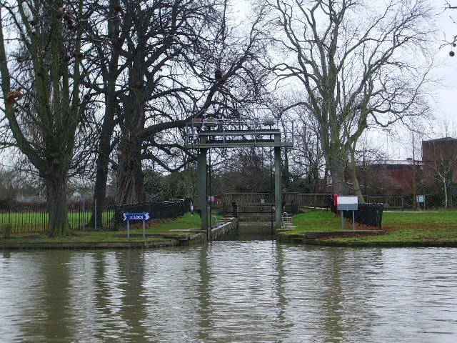The River Great Ouse, Bedford, Lock