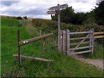 ST8412 : Stile and gate, Hambledon Hill by Jim Champion