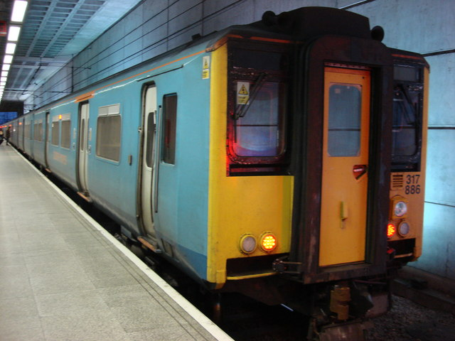 Stansted Express Train at Stansted Airport station