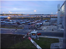 TL5523 : View just to the west of Stansted Airport terminal building by Oxyman