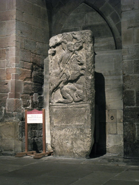 Tombstone of Flavinus, Roman Standard Bearer, Hexham Abbey