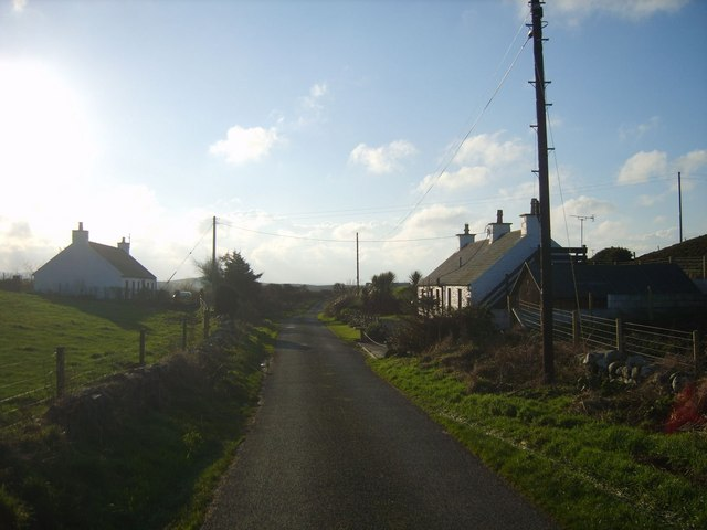 Whitewashed Cottages on Quiet lane