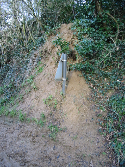 A six foot high road sign nearly buried by badgers!