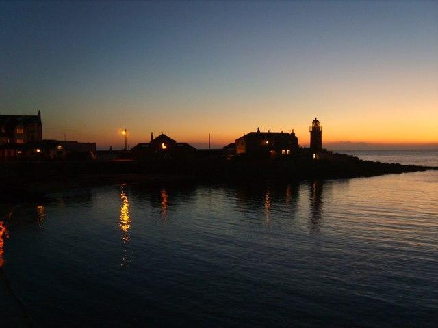 Portpatrick Lighthouse Sunset