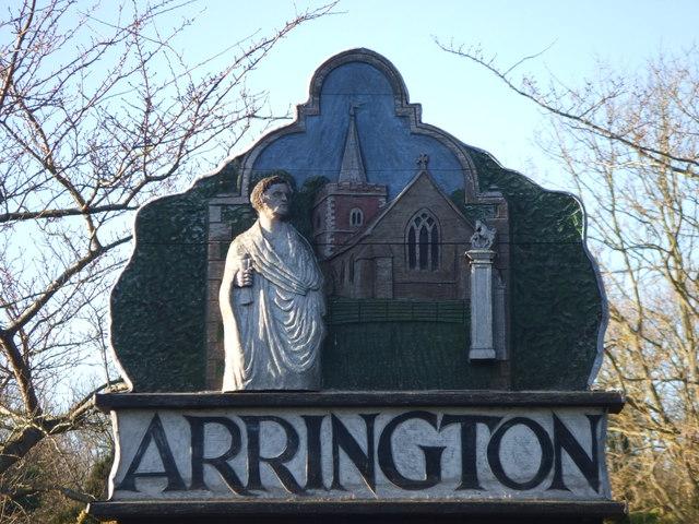 Arrington village sign