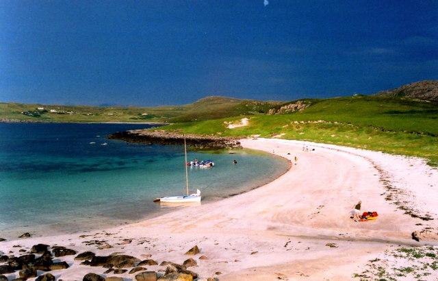 The shell-sand beach on Isle Ristol, Summer Isles