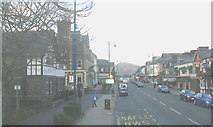 SH5638 : Porthmadog's High Street from Y Parc bus station by Eric Jones