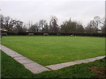SU7682 : Mill Meadows bowling green by Sandy B