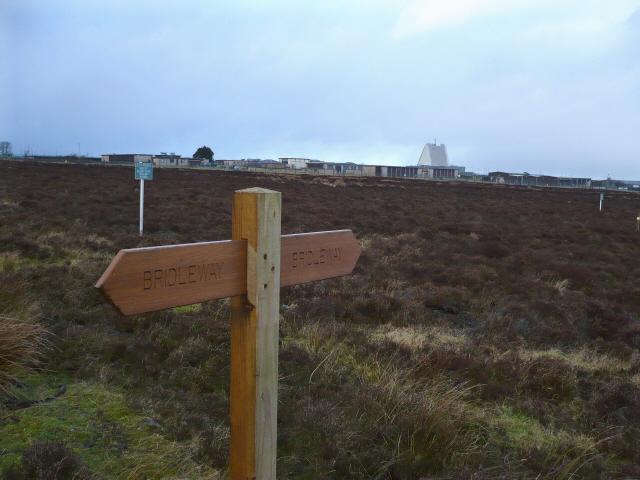 Permissive Bridleway sign near RAF Fylingdales