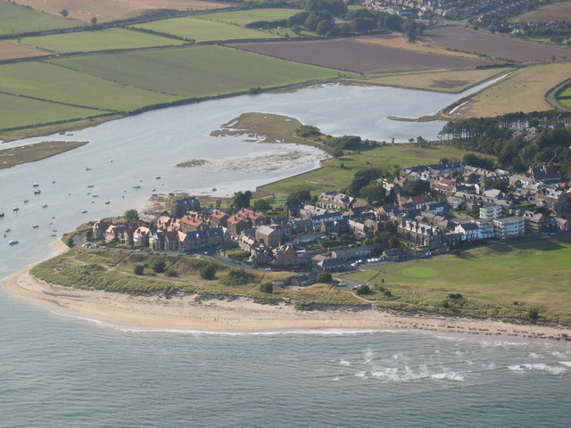 Aerial photo of Alnmouth