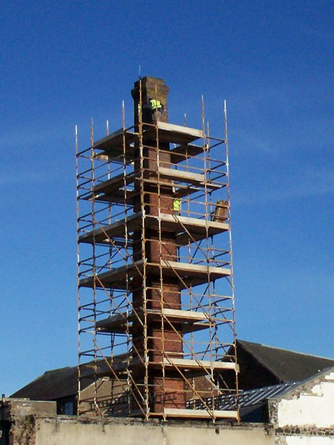 Preparing for the Demolition of Cowdy's Chimney