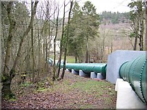 NS8841 : The pipes taking the water to Bonnington Power Station by Elliott Simpson