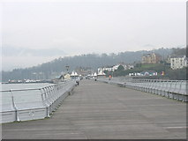 SH5873 : View back towards the entrance to Bangor Pier by Eric Jones