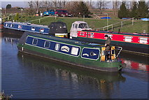 TL4097 : Phoenix Narrowboat on the River Nene (old course) March, Cambridgeshire by dennis smith