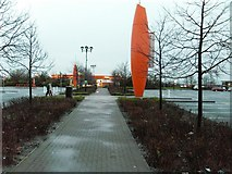 NS5170 : Path leading to Sainsbury's garage, Great Western Retail Park by Stephen Sweeney