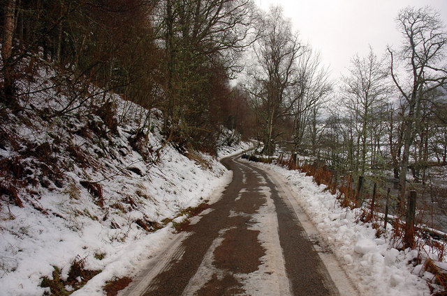 Unclassified road in Strathglass