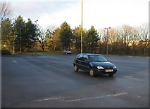 SU6252 : Lone Car - Winklebury playing fields by Given Up