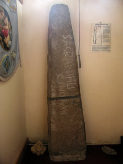 Sagranus stone, St Thomas parish church, Llandudoch / St Dogmael's