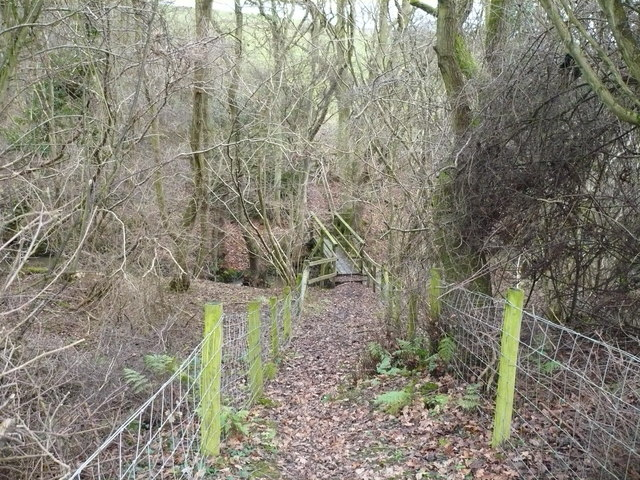 Path down to footbridge at Park Head Beck