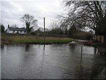 SU7251 : Warnborough Green ford - River Whitewater by Sandy B