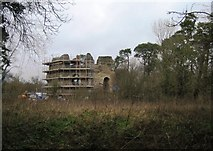 SU7251 : Castle under repair by Sandy B