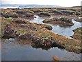 NG1753 : Peat hags between Ben Ettow and Ben Skriaig by John Allan