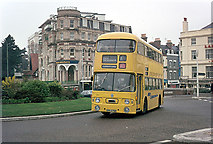 SZ0991 : Yellow Bus at the Lansdowne by Alan Murray-Rust