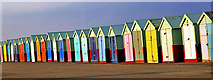 TQ2704 : Beach Huts - Hove - Sussex by Geoff Tydeman