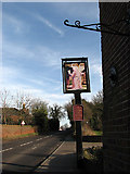 TM4599 : The Bell Inn - sign by Evelyn Simak