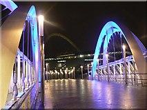 TQ1885 : Wembley: Wembley Stadium Station footbridge by Chris Downer