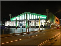 TQ1985 : Wembley Arena: floodlit in green by Chris Downer