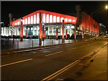 TQ1985 : Wembley Arena: floodlit in red by Chris Downer