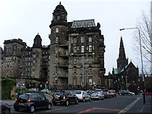 NS6065 : Glasgow Cathedral and Royal Infirmary by Stephen Sweeney