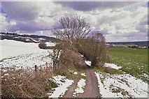 TQ5959 : Wrotham Fields in Snow by dennis smith