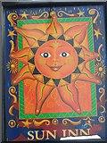 ST6834 : Sign for the Sun Inn, Bruton by Maigheach-gheal