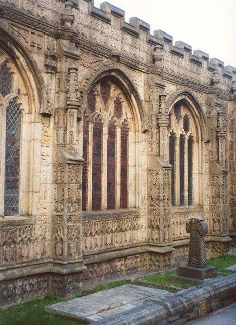 Detail of St Mary Magdalene's Church, Launceston
