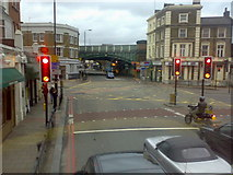 TQ2876 : Battersea Park Road, junction with Queenstown Road, London SW8 by Stacey Harris