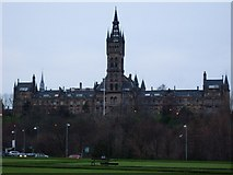 NS5666 : Glasgow University Old Building by Stephen Sweeney