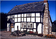 SO3961 : Black and white cottage in Shobdon by Stephen Nunney