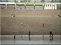TQ3103 : Brighton Beach from Brighton Pier, East Sussex by Christine Matthews